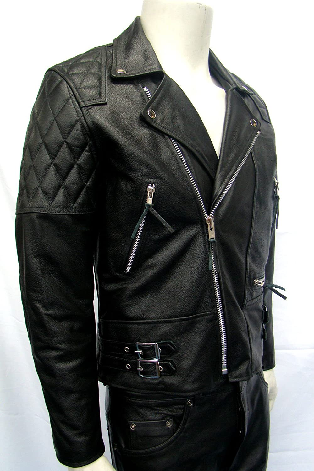 Man Speed Motorbike Black Brando 233 Real Cow Hide Leather Jackets