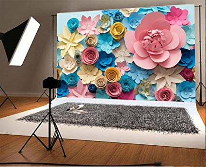 Laeacco vinyl 7x5ft photography background colorful flowers paper background pattern lovely style champagne blue pink blossoming flower backdrops laeacco vinyl 7x5ft photography background colorful flowers paper background pattern lovely style champagne b