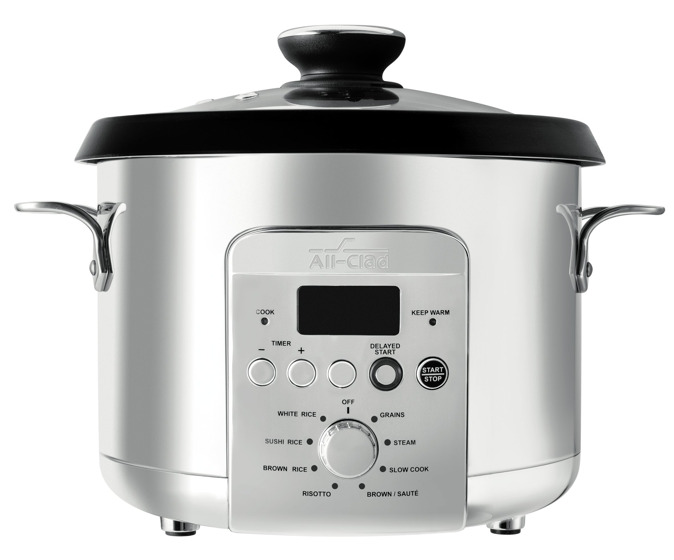 All-Clad NK500 Electric Multi Rice Cooker 4 Qt Grain, Stainless Steel