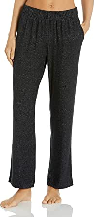 Amazon Essentials Women's Cozy Knit Full Length Straight Leg Relaxed Fit Pajama Pant