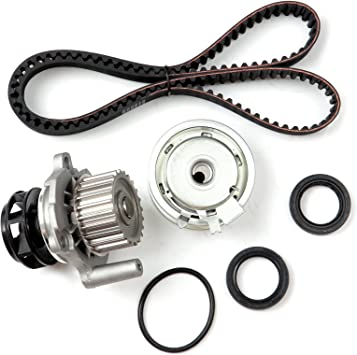 cciyu Fits for 1998-2005 Volkswagen Beetle 2.0L 1984CC SOHC AEG Timing Belt Water Pump Kit