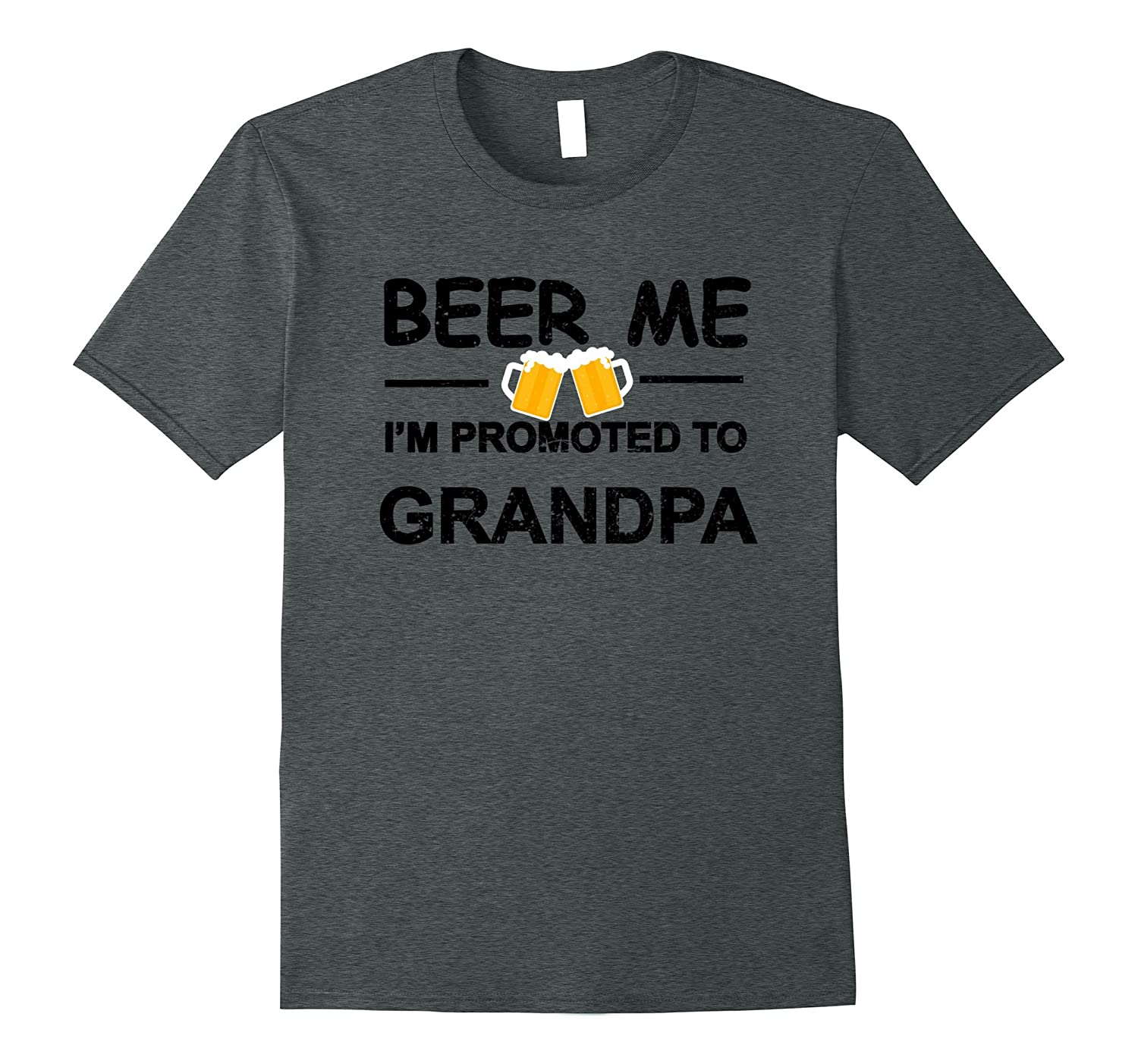 Beer Me I'm Promoted To Grandpa T-shirt New Dad Est 2017 Tee