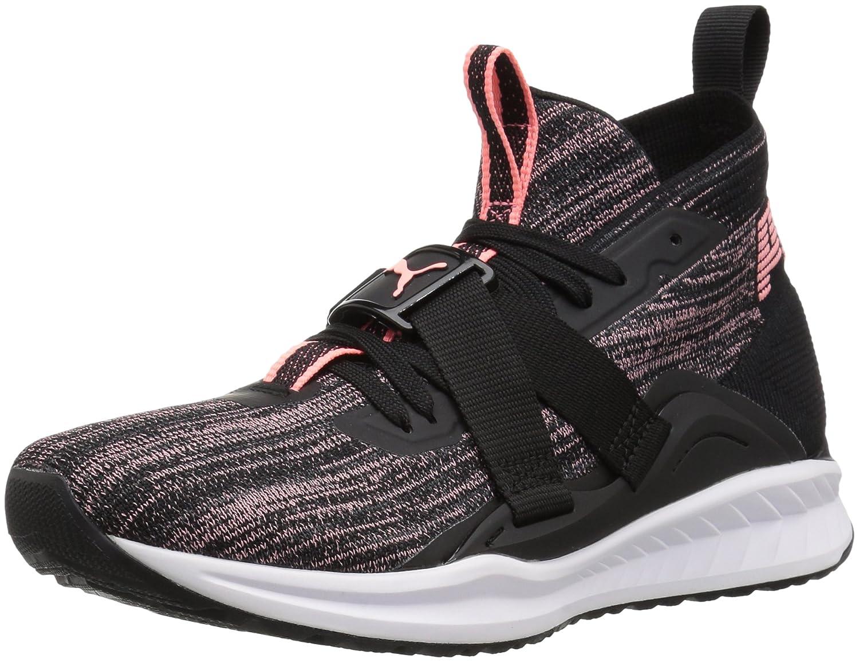 PUMA Women's Ignite Evoknit 2 Wn Sneaker B072MZKQMY 10 M US|Puma Black-asphalt-soft Fluo Peach