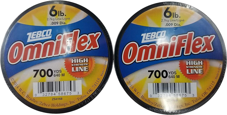 Lot Of 2 Zebco Omniflex 6lb 700YDS Fishing Line ZS4168 High Strength Line