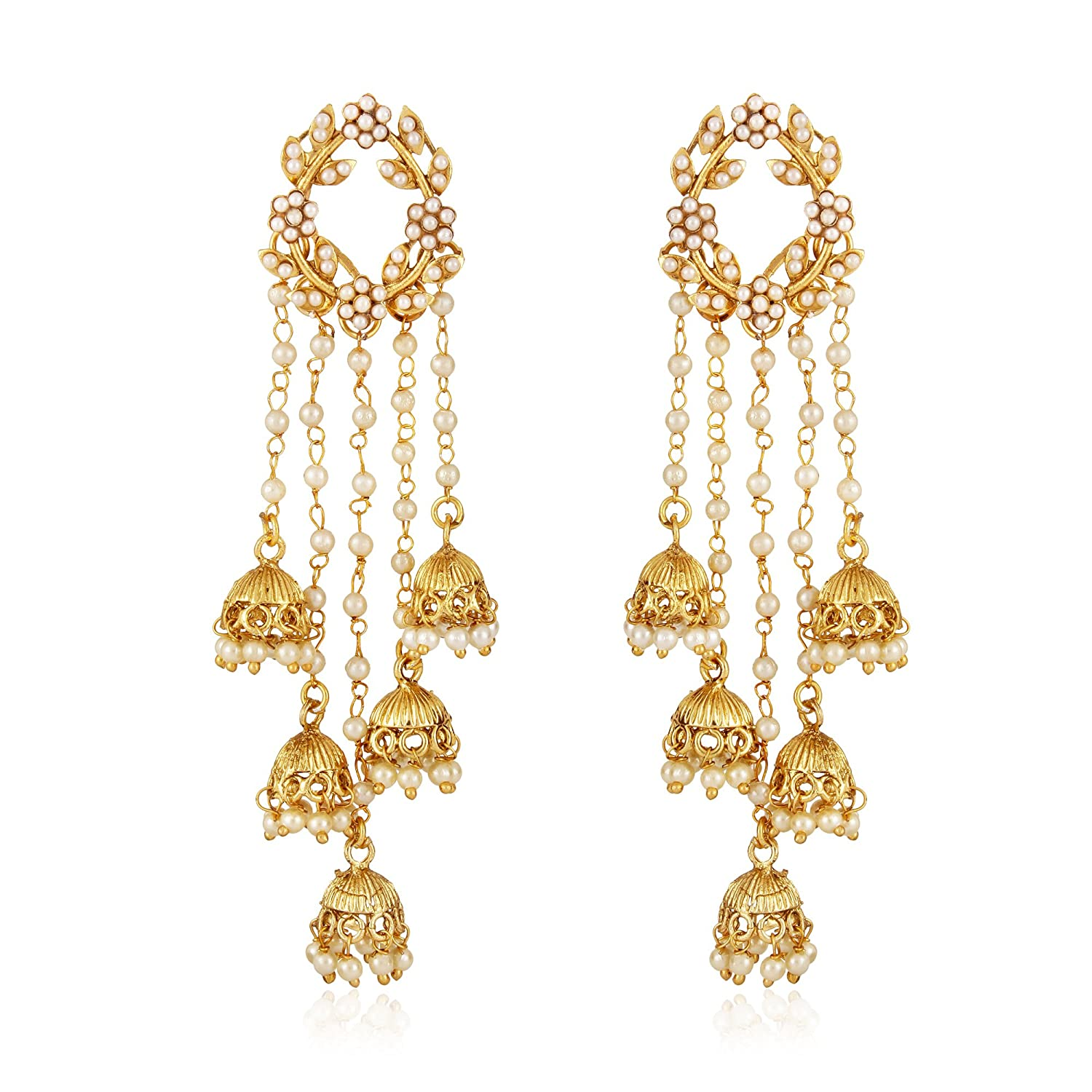 fashion daily traditional amazon stylish earrings in prices buy online b gold india best jhumka jewellery wear fancy shining for pearl diva at party plated jhumki