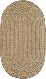 """product image for Candor Tan 8' 0"""" x 11' 0"""" Oval Braided Rug"""