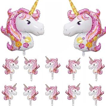 Amazon.com: Unicorn Globos (12 piezas) Unicornio Globo ...