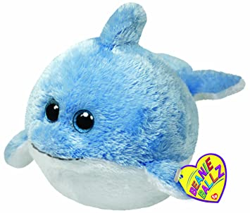 Ty - Peluche bola delfín, 15 cm (United Labels 38041TY)