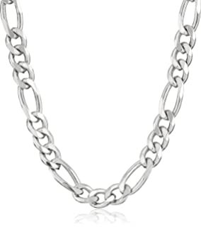 Image result for Men's Sterling Silver Italian Solid Figaro Link-Chain Necklace