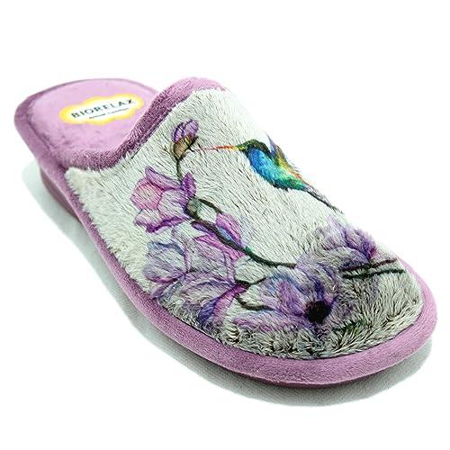 Cosdam 1865 - Zapatillas Biorelax con Dibujo de Colibrí: Amazon.es: Zapatos y complementos