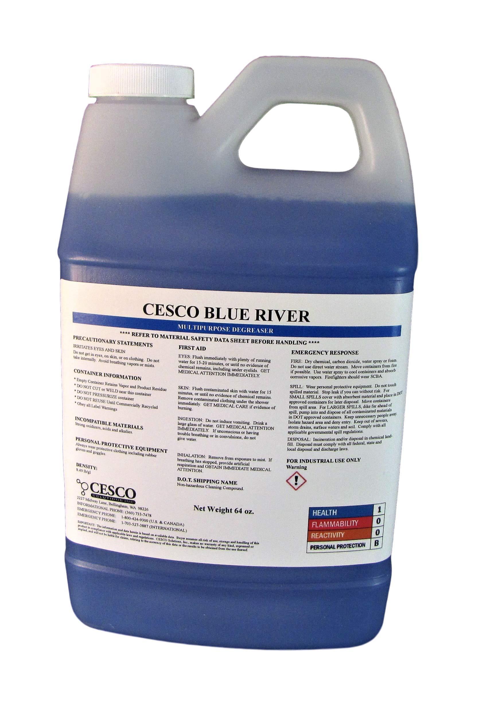 Cesco Blue River Heavy-Duty Cleaner/Degreaser - 64 Oz