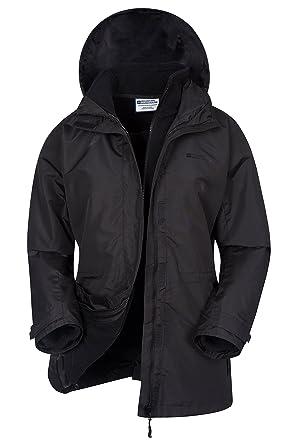 Mountain Warehouse Fell Womens 3 in 1 Jacket -Water Resistant Rain Jacket 28d6fbd061a0
