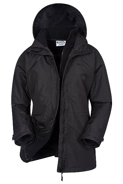 Mountain Warehouse Chaqueta Fell 3 en 1 para Mujer - Abrigo Impermeable 99807e41214