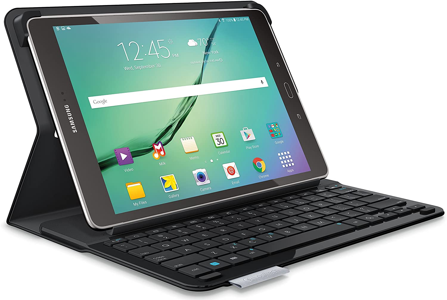 Logitech Type S Keyboard Case for Samsung Galaxy Tab S2 9.7, Black