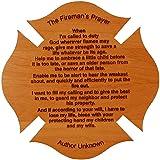 Fireman's Prayer on a Maltese Cross 8 Inch By 8 Inch