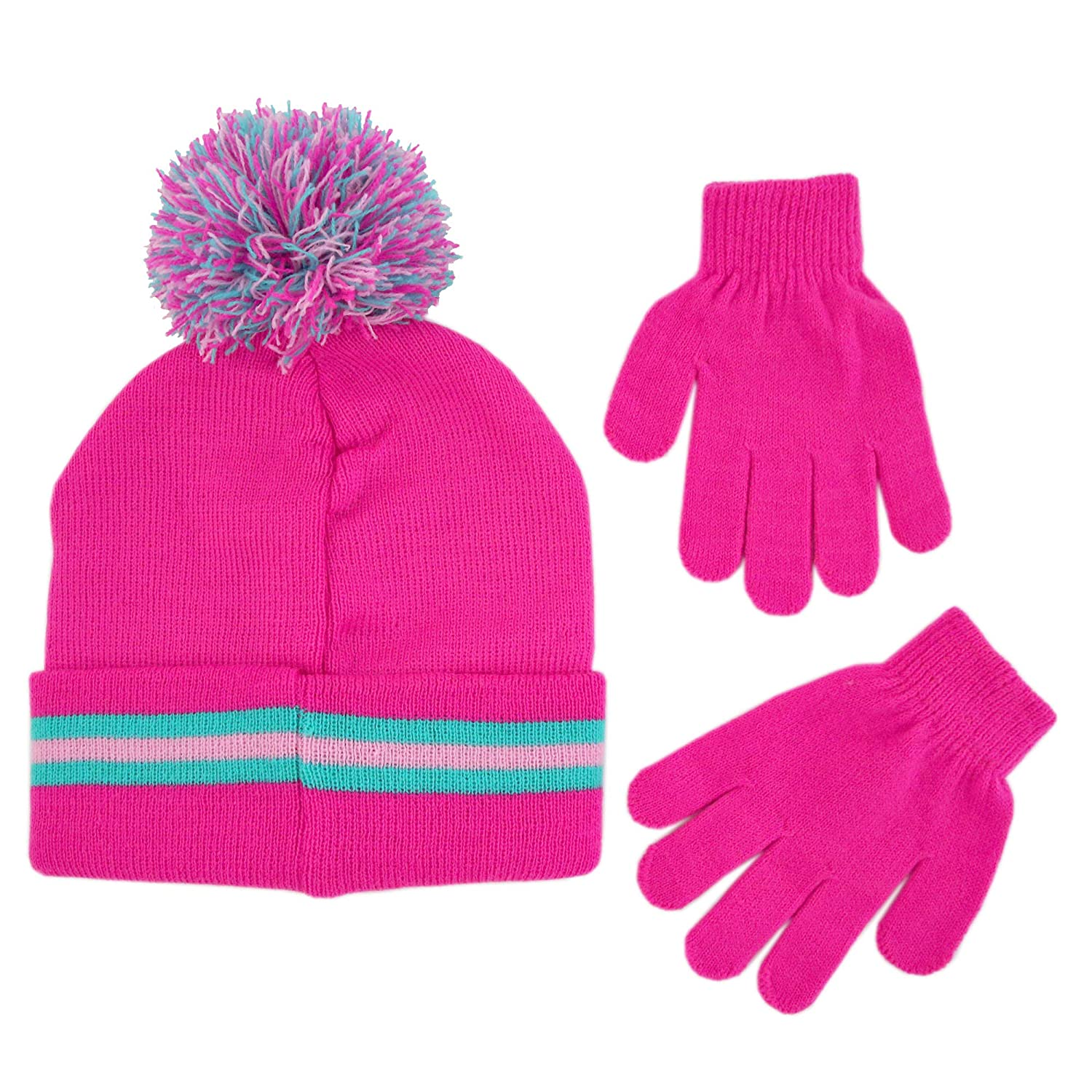 Amazon.com: Shopkins Girls Little Assorted Character Beanie Hat and Gloves Cold Weather Set, pink Age 4-7: Clothing