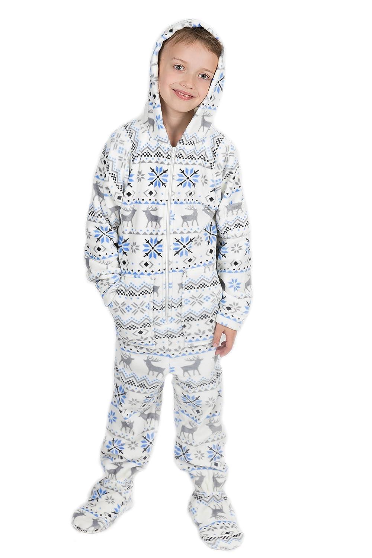 Pijama entero con pies para adultos de Navidad Kajamaz: Pijama entero con pies para adultos de felpa: Amazon.es: Ropa y accesorios