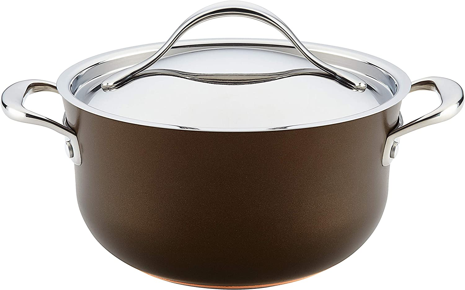 Animer and price revision Anolon Nouvelle Copper Luxe Hard Oven Dutch St Nonstick Anodized New life