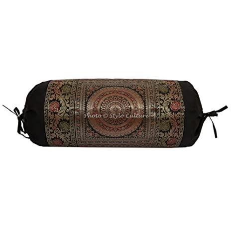 Amazon.com: Stylo Culture Indian Polydupion Cylindrical Yoga ...