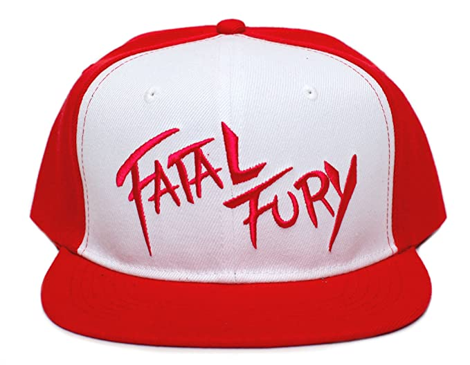 9e3251ff1d422 Image Unavailable. Image not available for. Color  Fatal Fury Embroidered  Flat Bill Unisex-Adult Trucker Hat -One-Size ...