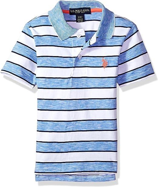 U.S. Polo Assn. Varones Manga Corta Camisa Polo - Azul - 3 años ...