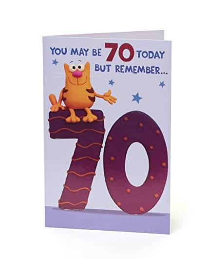 Tarjeta de 70 cumpleaños divertida - Tarjeta de regalo ideal ...