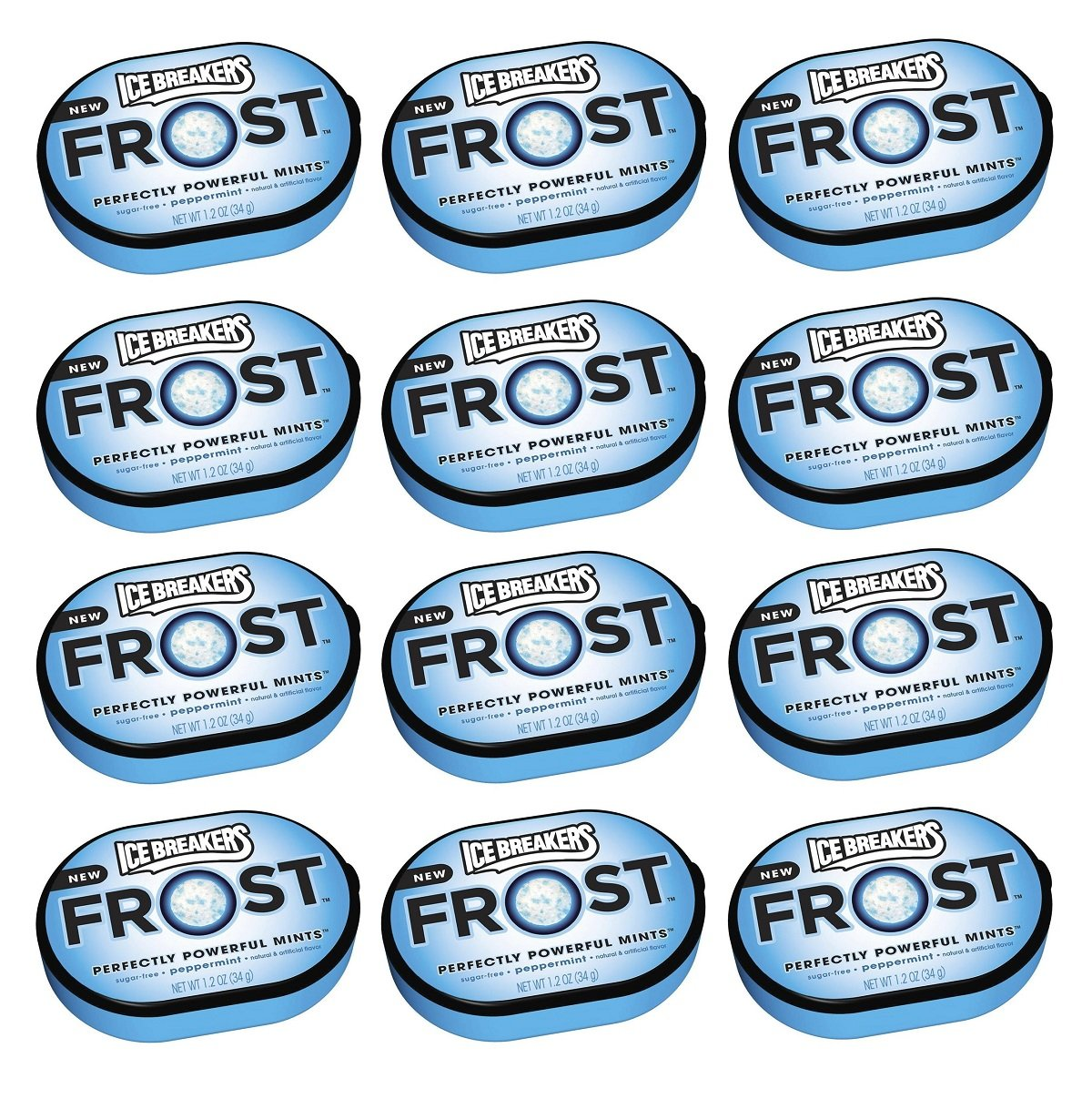 Ice Breakers Frost Peppermint Mints Tin 12ct - Tj