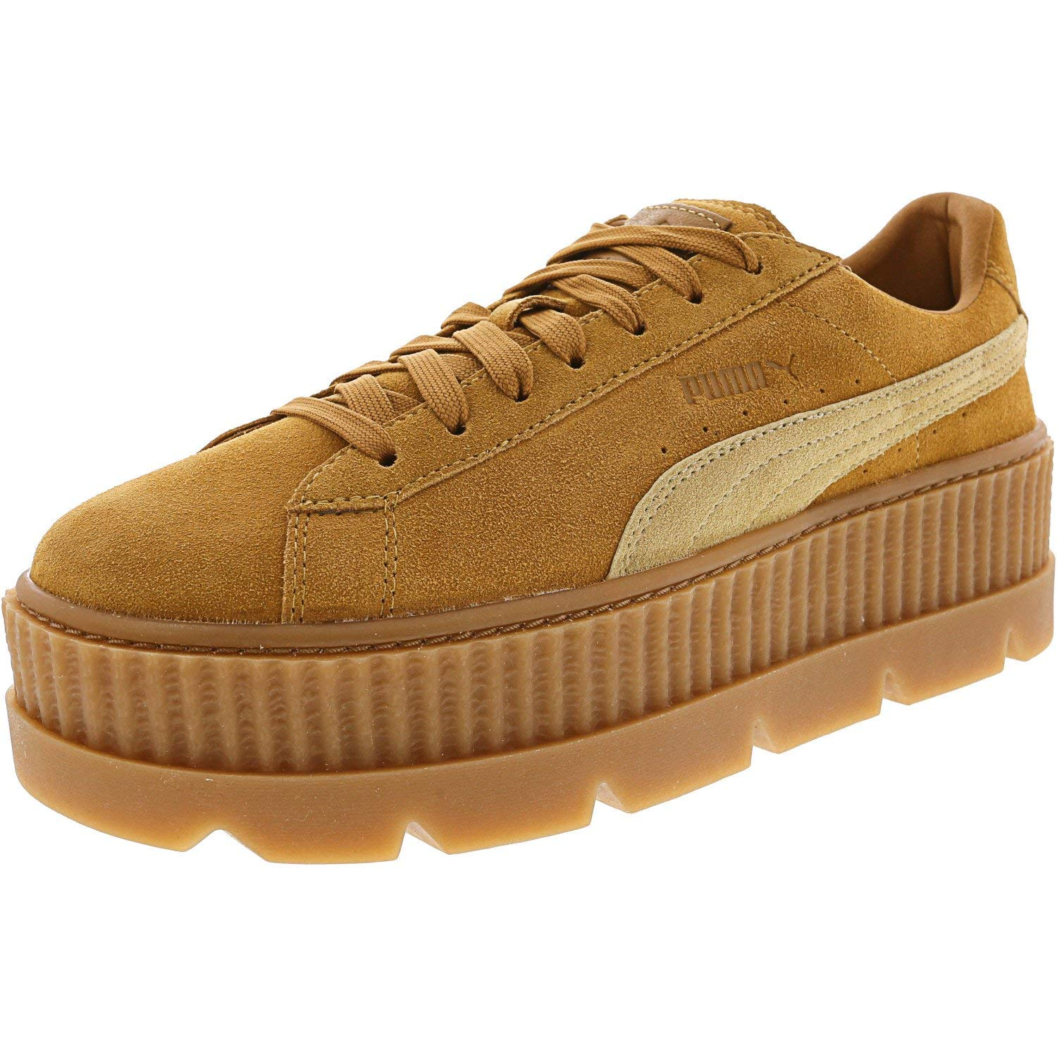new product 8c33a aaa0d PUMA Womens Fenty by Rihanna Suede Cleated Creeper Casual Sneakers,