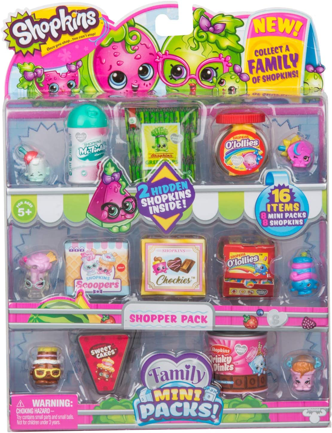 Shopkins New Families In Collectible Mini Pack 16 Piece Amazon Co Uk Toys Games