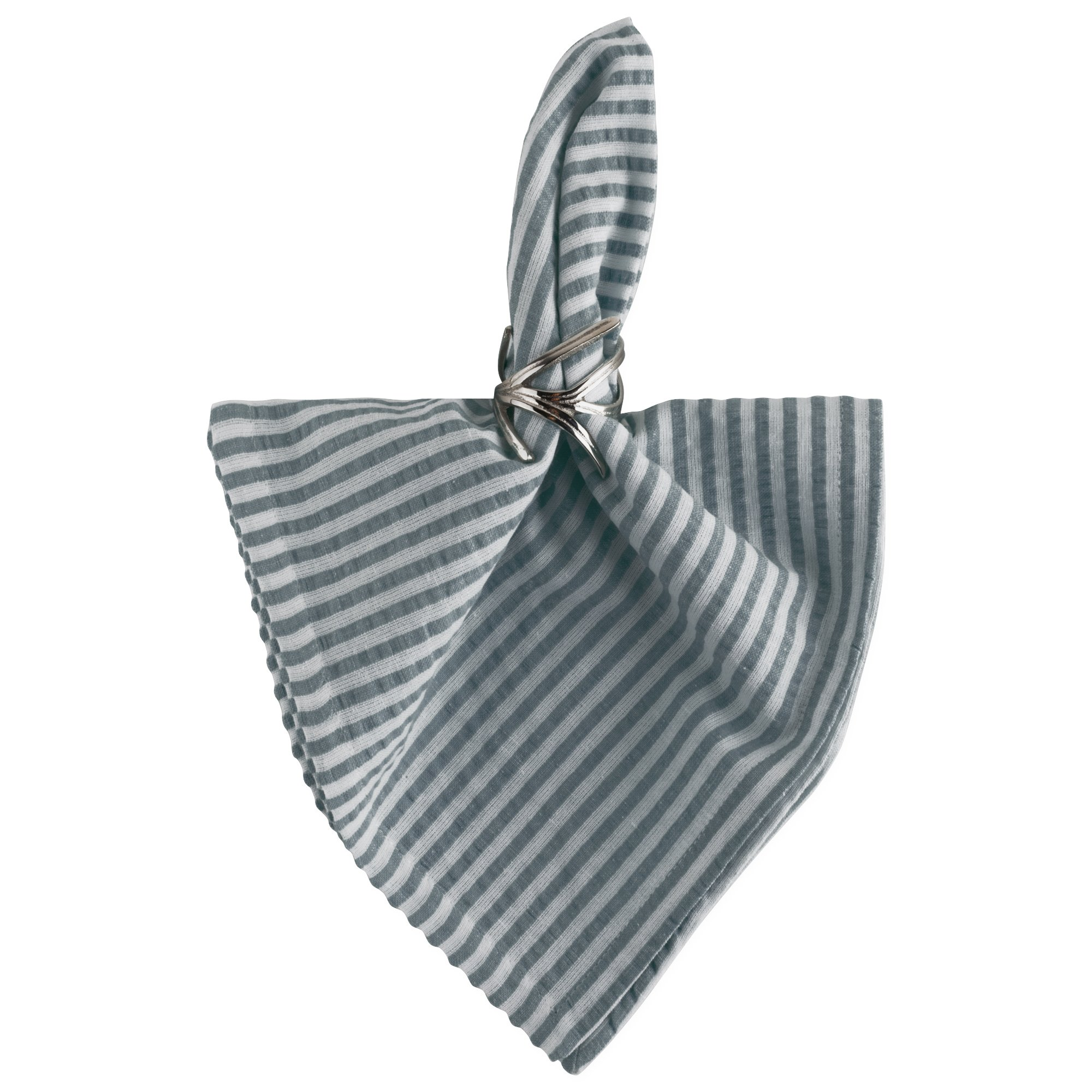 DII Cotton Seersucker Striped Napkin for Brunch, Weddings, Showers, Parties and Everyday Use, 20 x 20'', Mineral Gray and White by DII (Image #4)