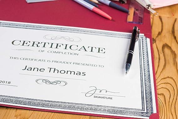 Amazon.com: Award Certificates – 25 hojas de papel lisas en ...