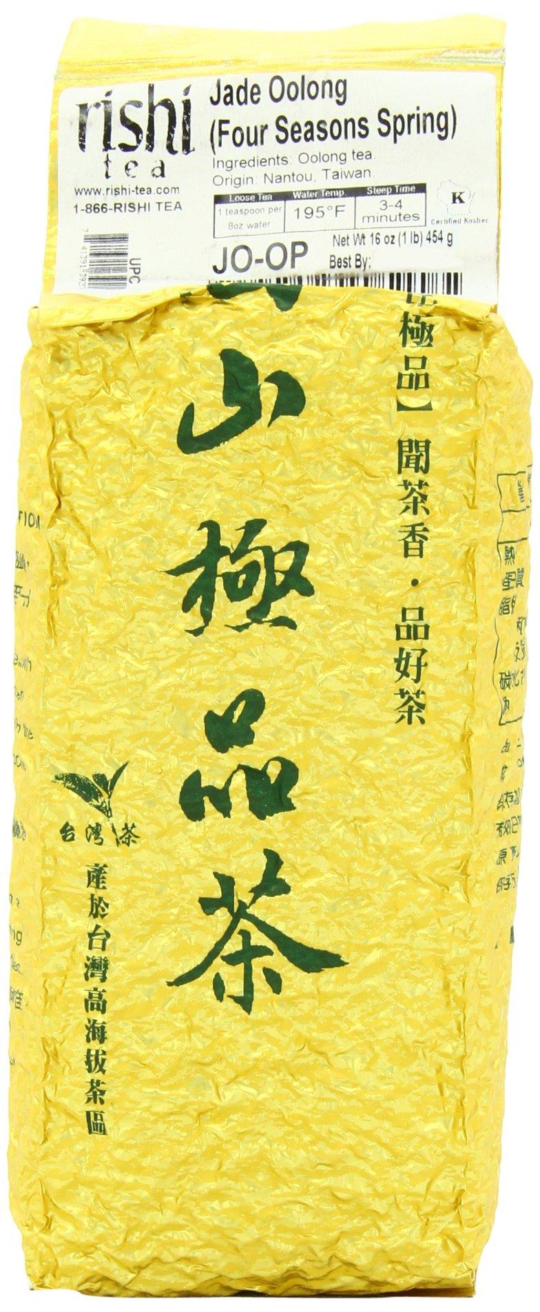 Rishi Tea, Jade Oolong (Four Season Spring), 1-Pound