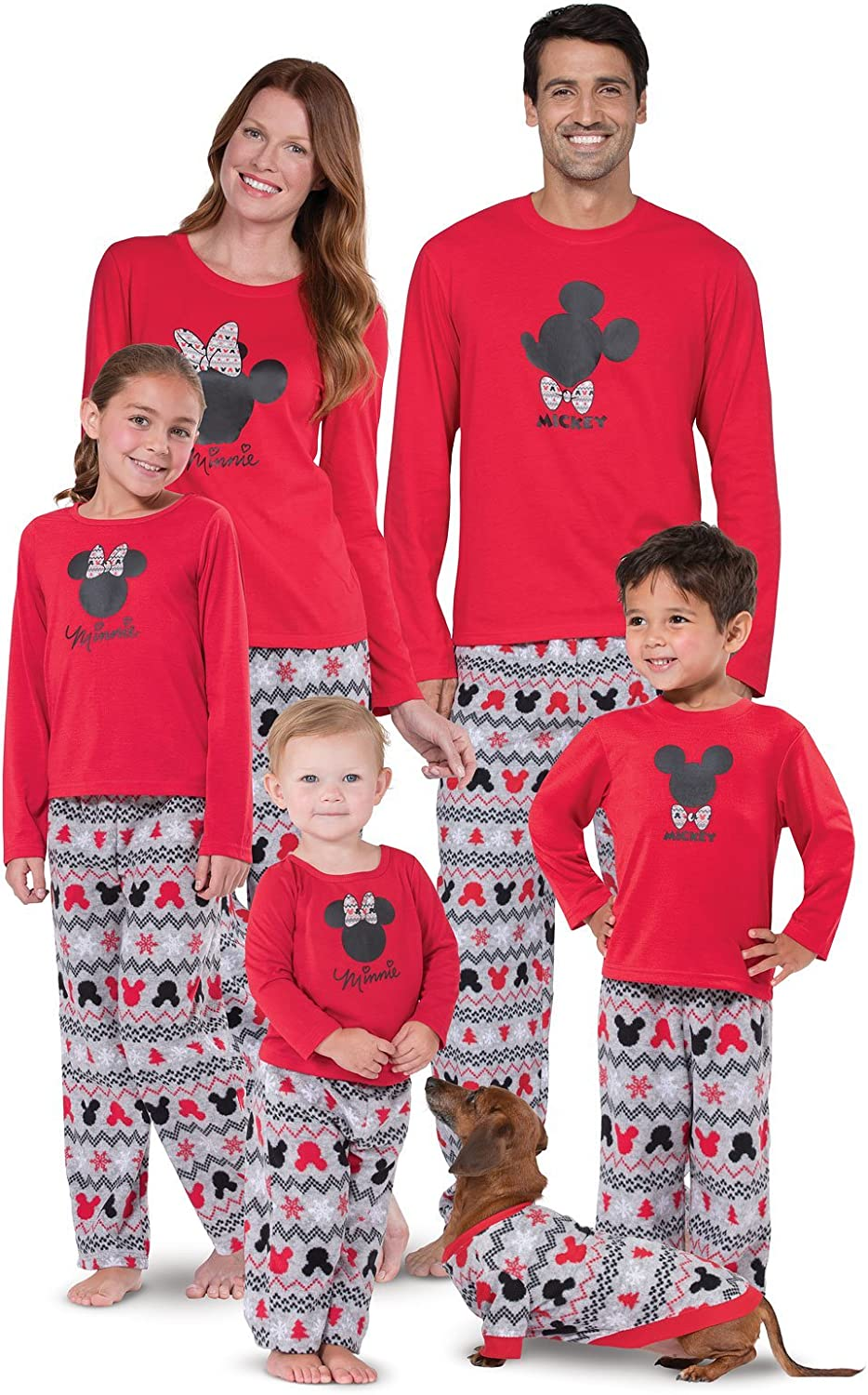 Red PajamaGram Matching Pajamas for Family 5T Minnie Mouse Toddler Girls