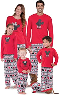 1715cfb2fc PajamaGram Matching Pajamas for Family - Mickey Mouse and Minnie Mouse  Pajamas Red