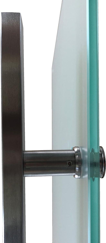 zylindrisch P1-900-420EGE-ASE Wandseitig flach 900-2050, Soft-Close Selbsteinzug Slimline Alu-Schinensystem mit Griffstange 420mm Einseitig wandseitig flach