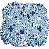 Kidzvilla Cotton New Born Baby Mustard Seeds Pillow, 0 to 12 Months (Blue)