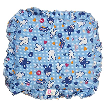 a5b17f48f9 Buy Kidzvilla Cotton New Born Baby Mustard Seeds Pillow, 0 to 12 Months  (Blue) Online at Low Prices in India - Amazon.in