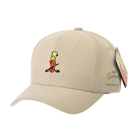 6f699c55c95 WITHMOONS The Simpsons Baseball Cap Bart Simpson Red Devil Hat HL1754 (Beige )