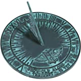 Rome 2560 New Salem Sundial, Cast Iron with Verdigris Finish, 10-Inch Diameter