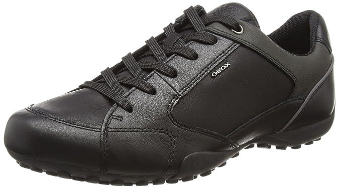 Geox Uomo Symbol B, Zapatillas para Hombre, Negro (Black), 42 EU