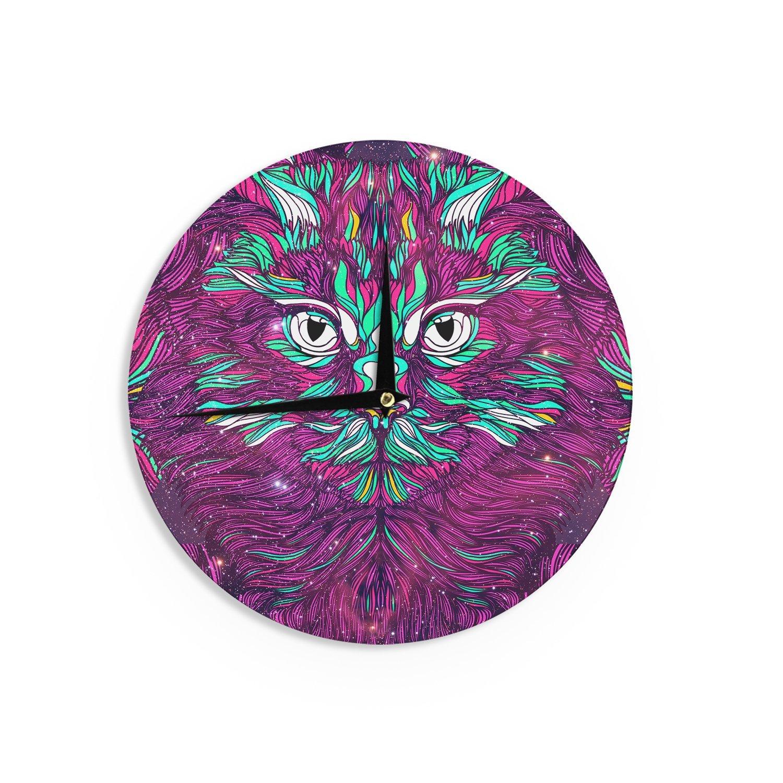 Kess InHouse Danny Ivan Space Cat Wall Clock 12 Diameter