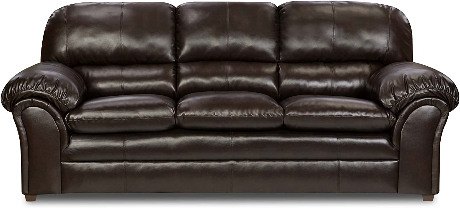 - Simmons Upholstery 6159-03 Vintage Riverside Bonded Leather Sofa