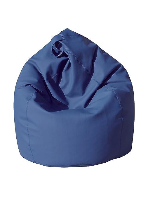 134 opinioni per 13Casa- Poltrona sacco dea in ecopelle blu. Dim. 70x110 cm