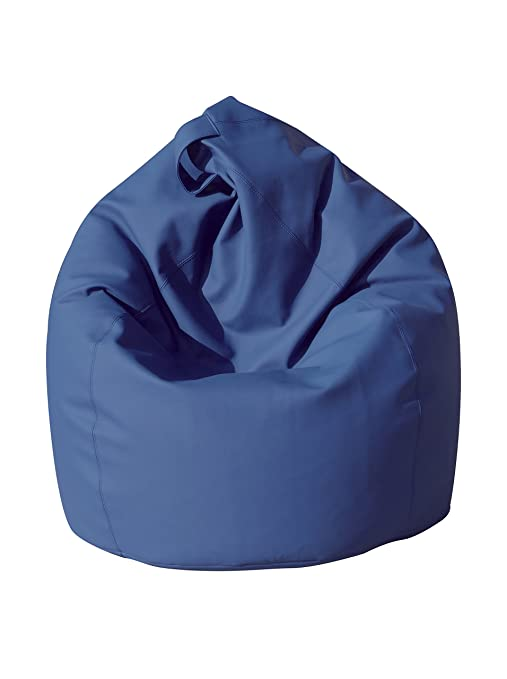 13casa Dea Poltrona A Sacco Blu 70 X 110 Cm Amazon It Casa E