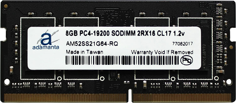 1x8GB Laptop Memory Upgrade for Asus Republic of Gamers ROG Strix GL553VD DDR4 2400Mhz PC4-19200 SODIMM 2Rx16 CL17 1.2v RAM DRAM Adamanta 8GB