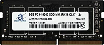 Adamanta 16GB 2x8GB Laptop Memory Upgrade for Dell Inspiron 15 7000 7567 Gaming Series DDR4 2400Mhz PC4-19200 SODIMM 2Rx16 CL17 1.2v RAM DRAM
