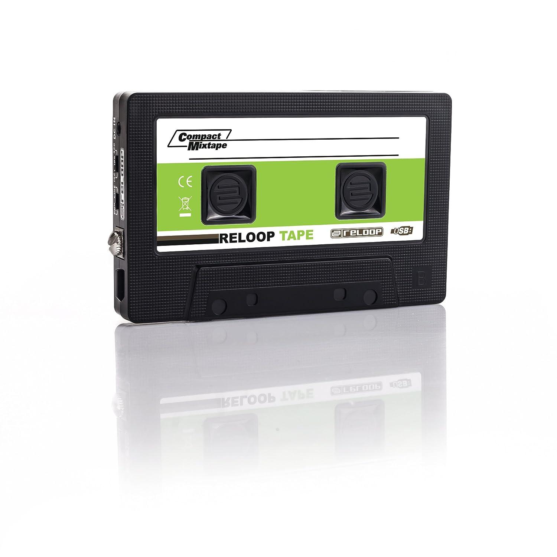 Amazon.com: Reloop USB Mixtape Recorder with Retro Cassette Look, Black (TAPE): Musical Instruments