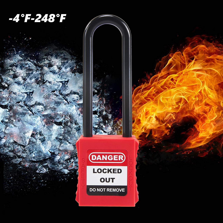 Bloqueo de seguridad 2 paquetes 1-1//2 Steel Shackle OHMOTOR Candado de seguridad Clave diferente