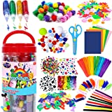 FunzBo Arts and Crafts Supplies for Kids - Craft Art Supply Kit for Toddlers Age 4 5 6 7 8 9 - All in One D.I.Y…