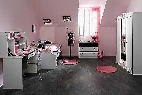 Lovely Light Habitación de los Niños niña Cama Escritorio ...